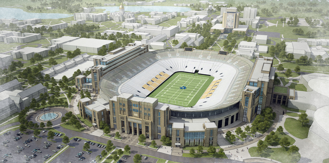 Notre Dame talking unique kind of football stadium expansion