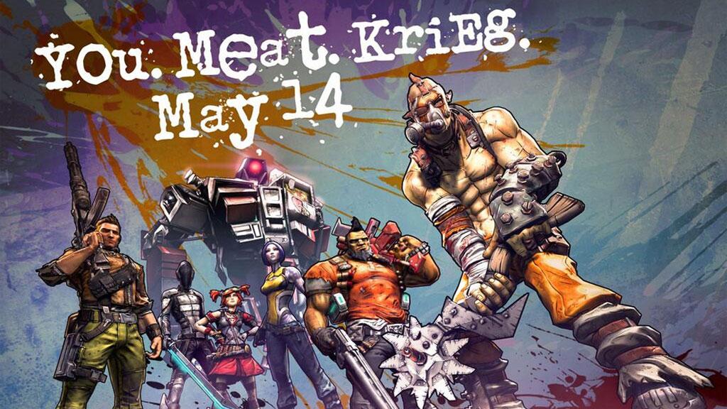 Borderlands 2's sixth character, Krieg the Psycho Bandit, arriving May 14