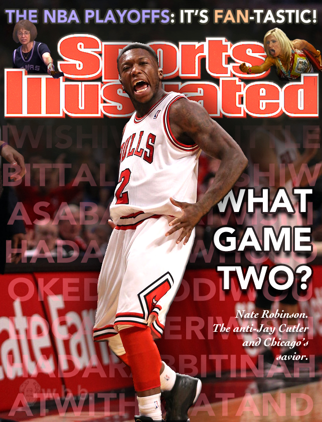 Nate Robinson is so excited.