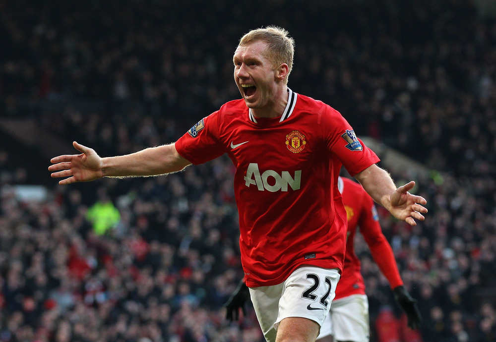 Manchester United's Paul Scholes retires for second time