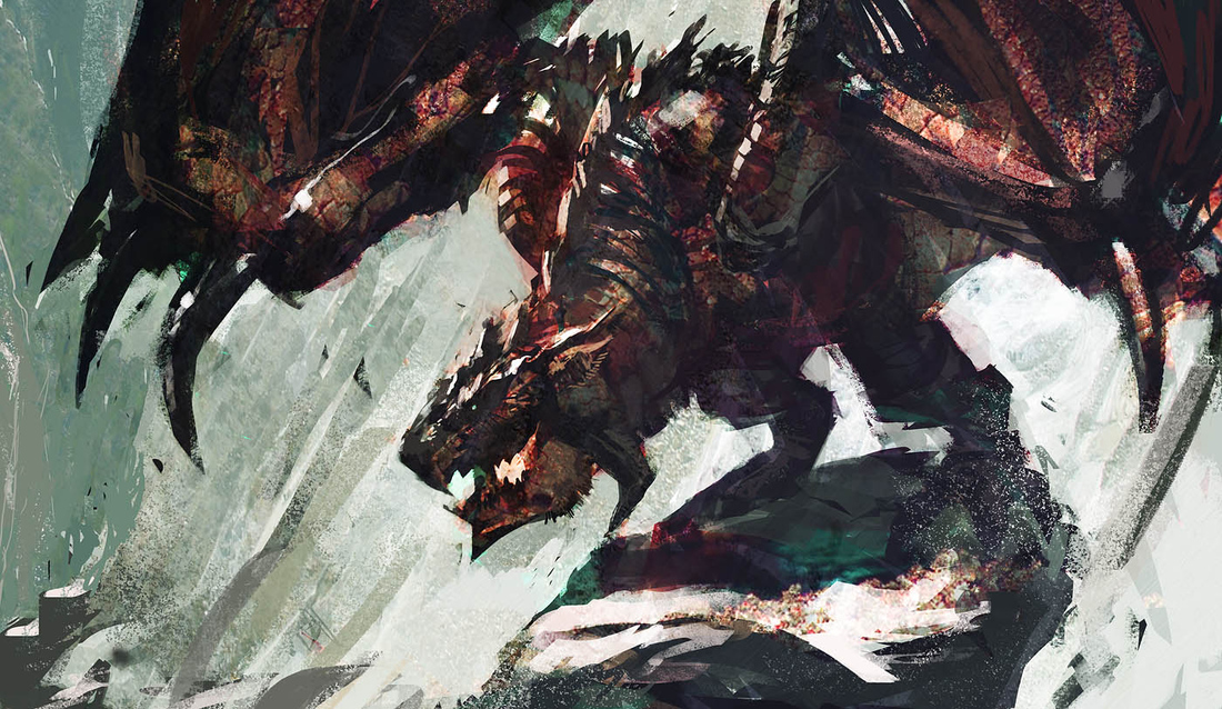 Monster Hunter beasts come alive in dramatic fan art from indie dev Pierre-Etienne Travers