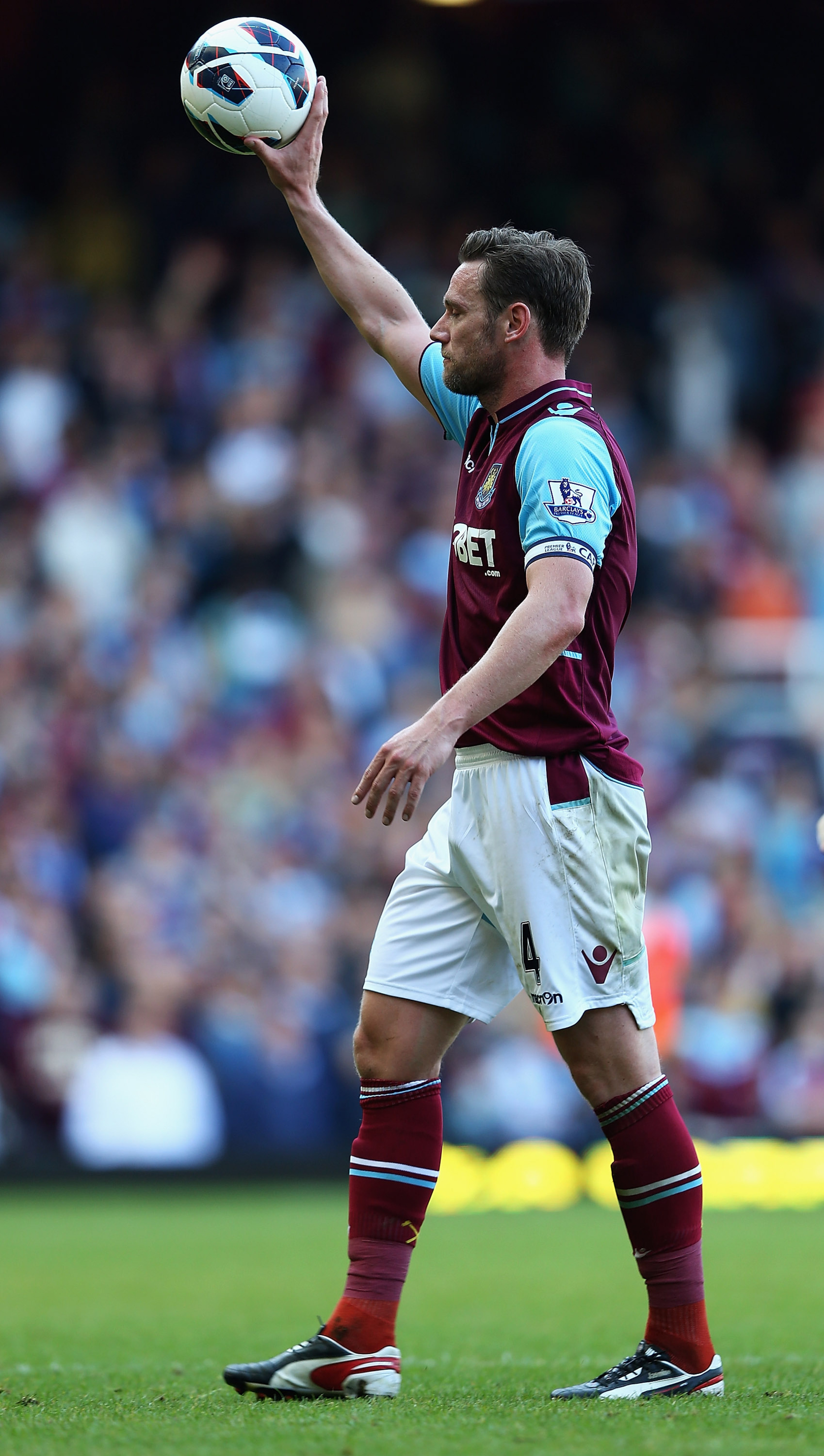 West Ham captain Nolan finished the season with a hat trick
