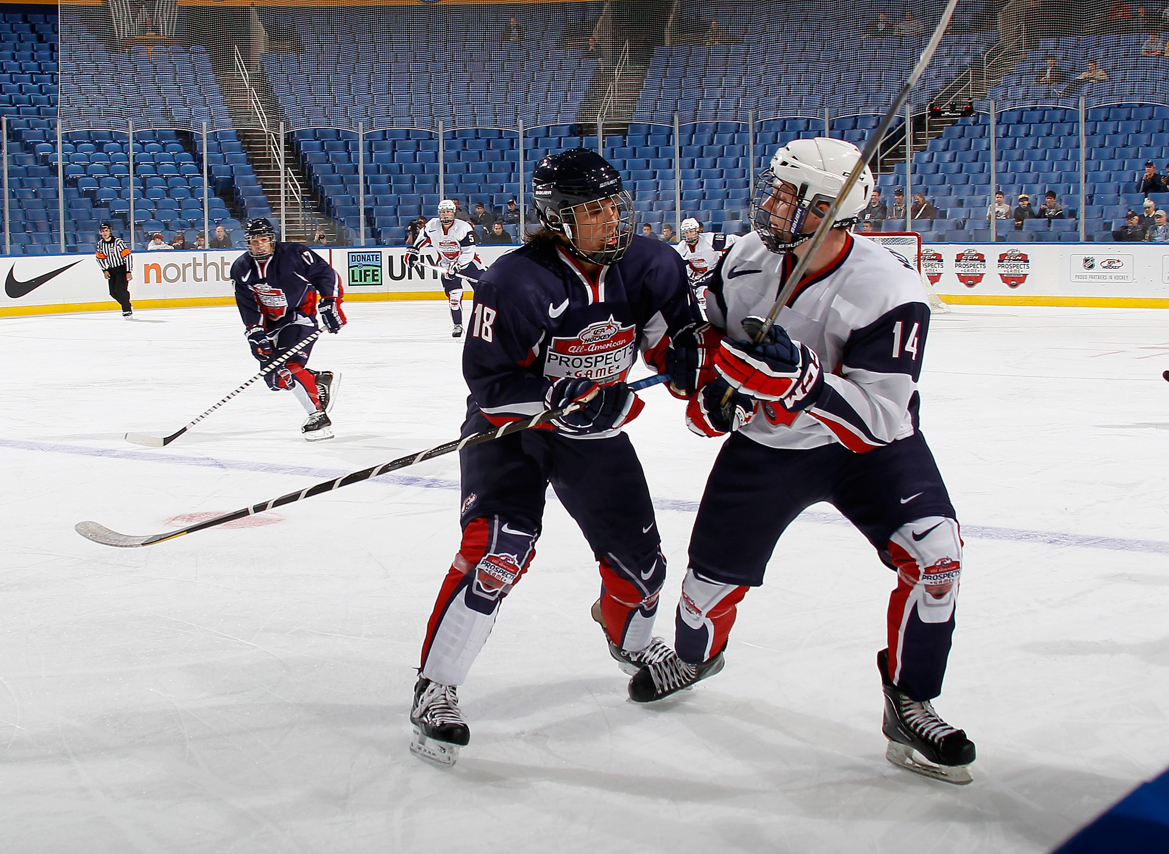 Ryan Hartman (left) took part in the USA Hockey All-American Prospects Game