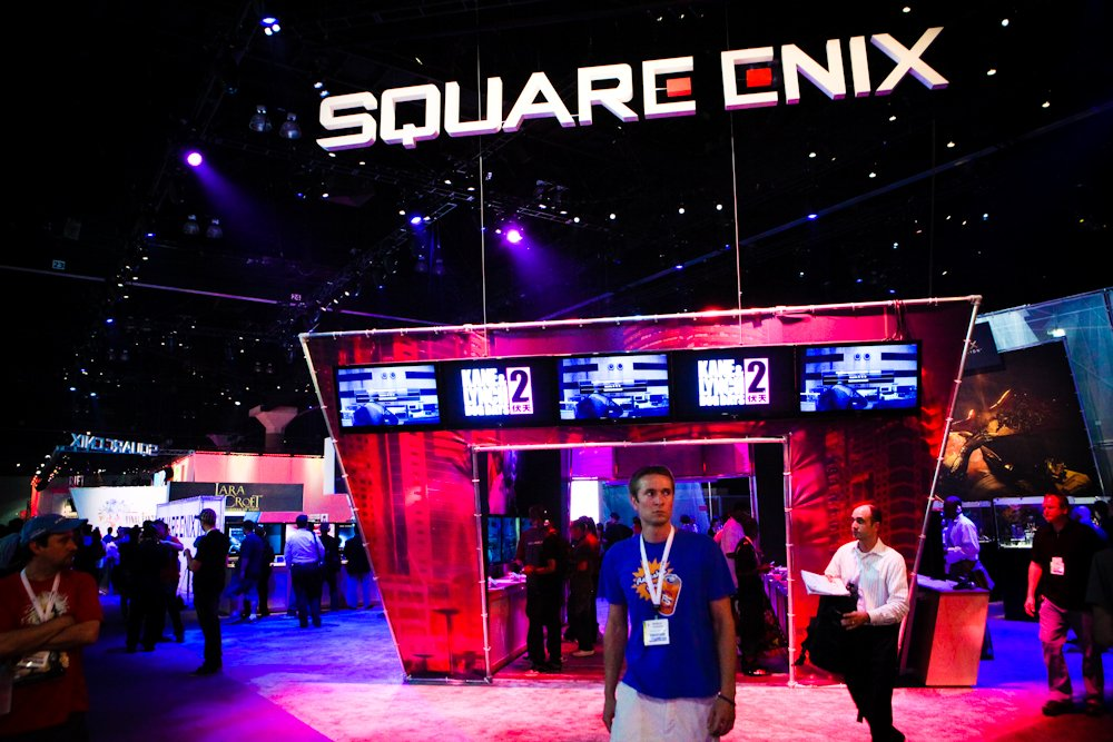 Square Enix livestreaming from E3 show floor