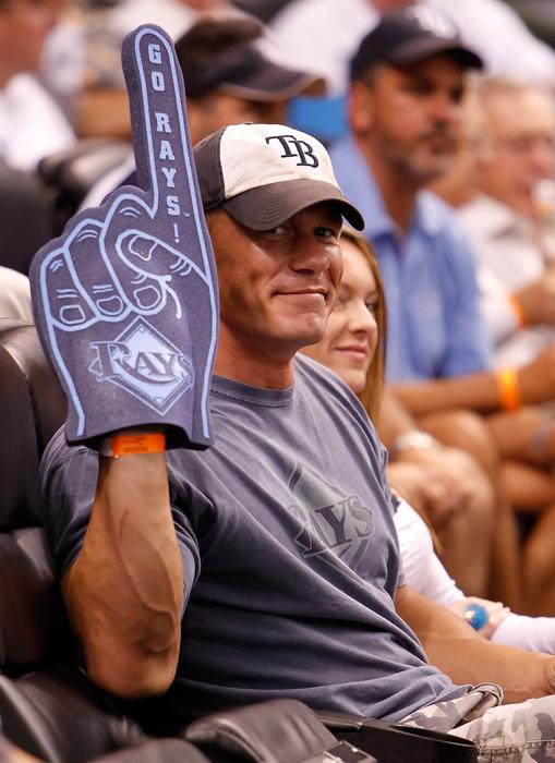 John Cena is giving you the finger.