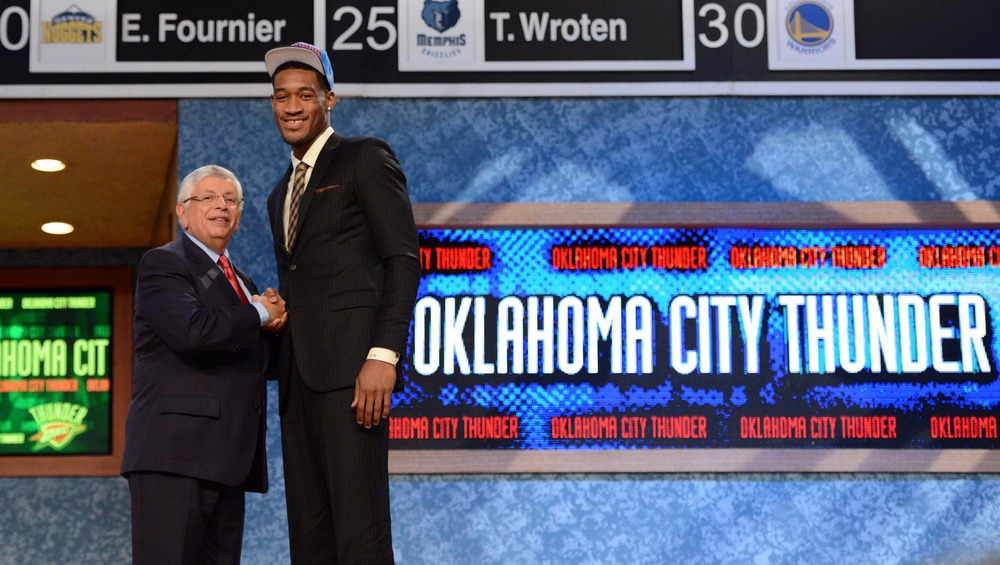 Perry Jones after being drafted in 2012