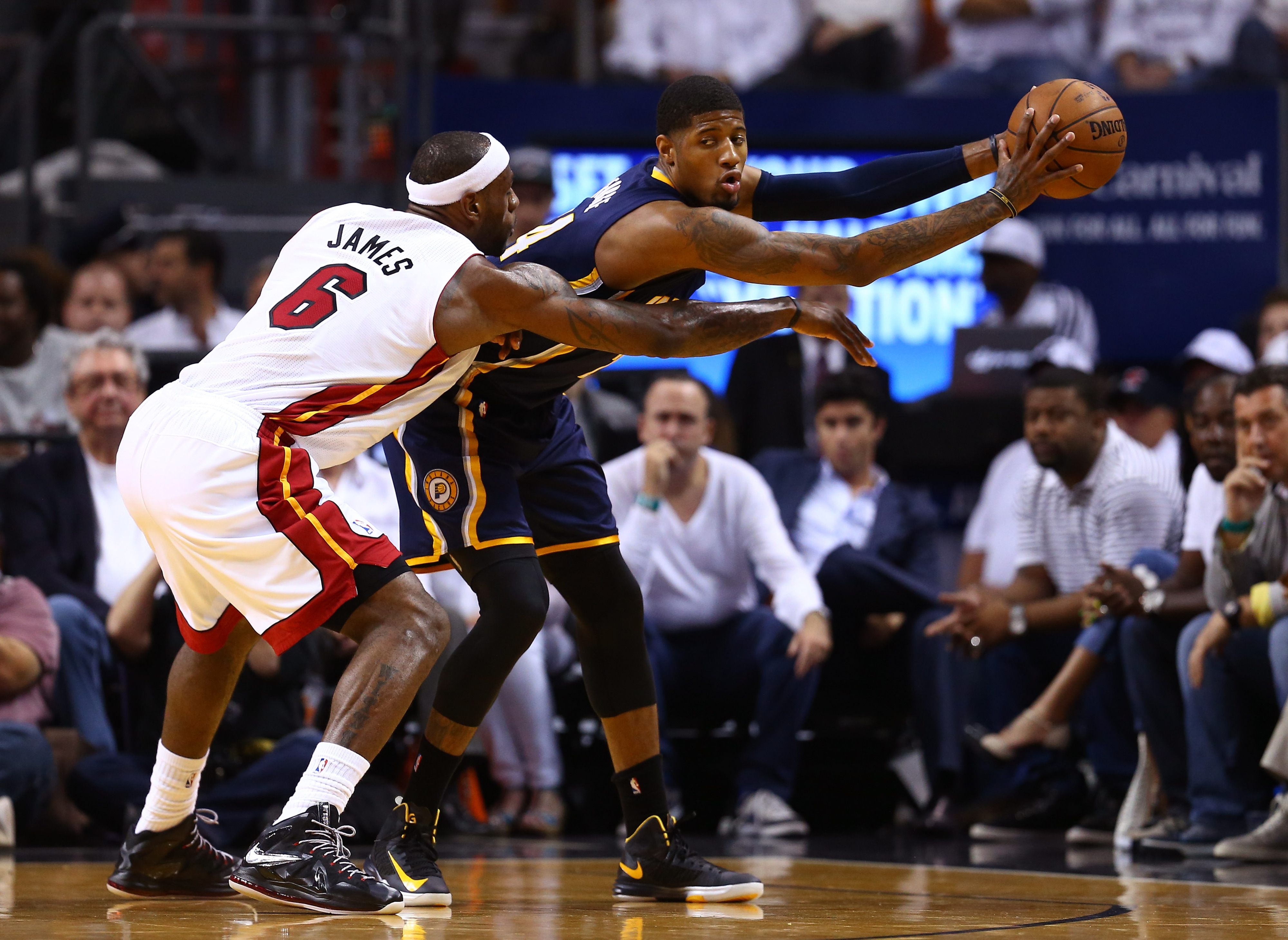 Pacers vs. Heat score update, Game 5: Pacers lead Heat, 44-40, through the first half
