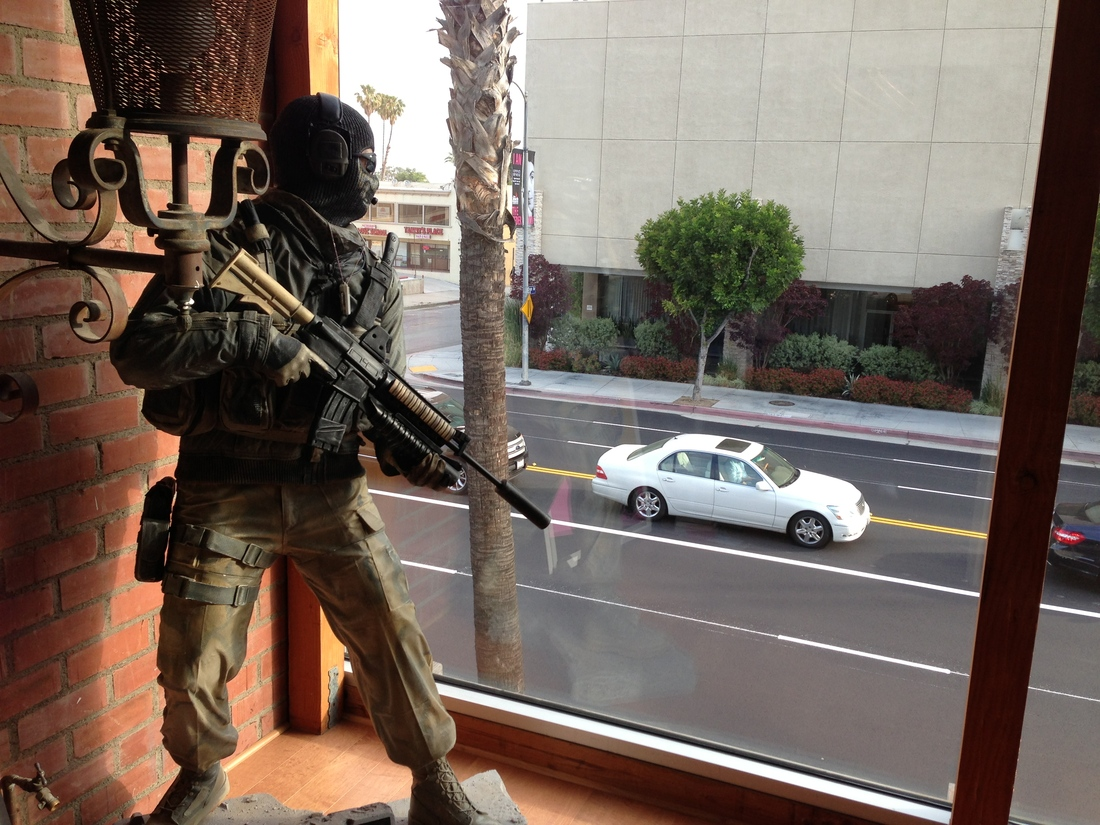 LAPD confronts Call of Duty 'Ghost' statue in tense standoff