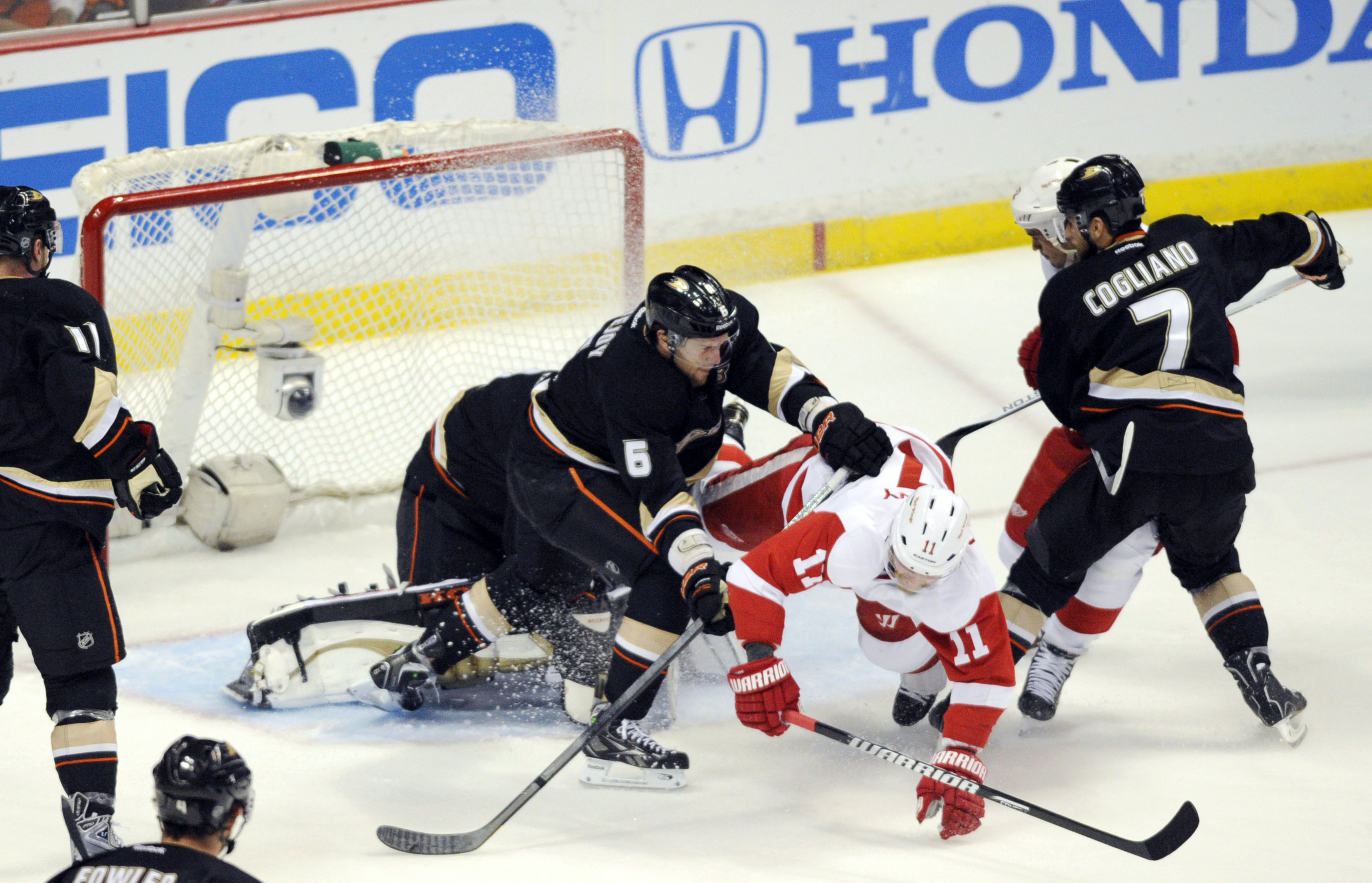 I'm a fan of anyone who knocks Dan Cleary over.