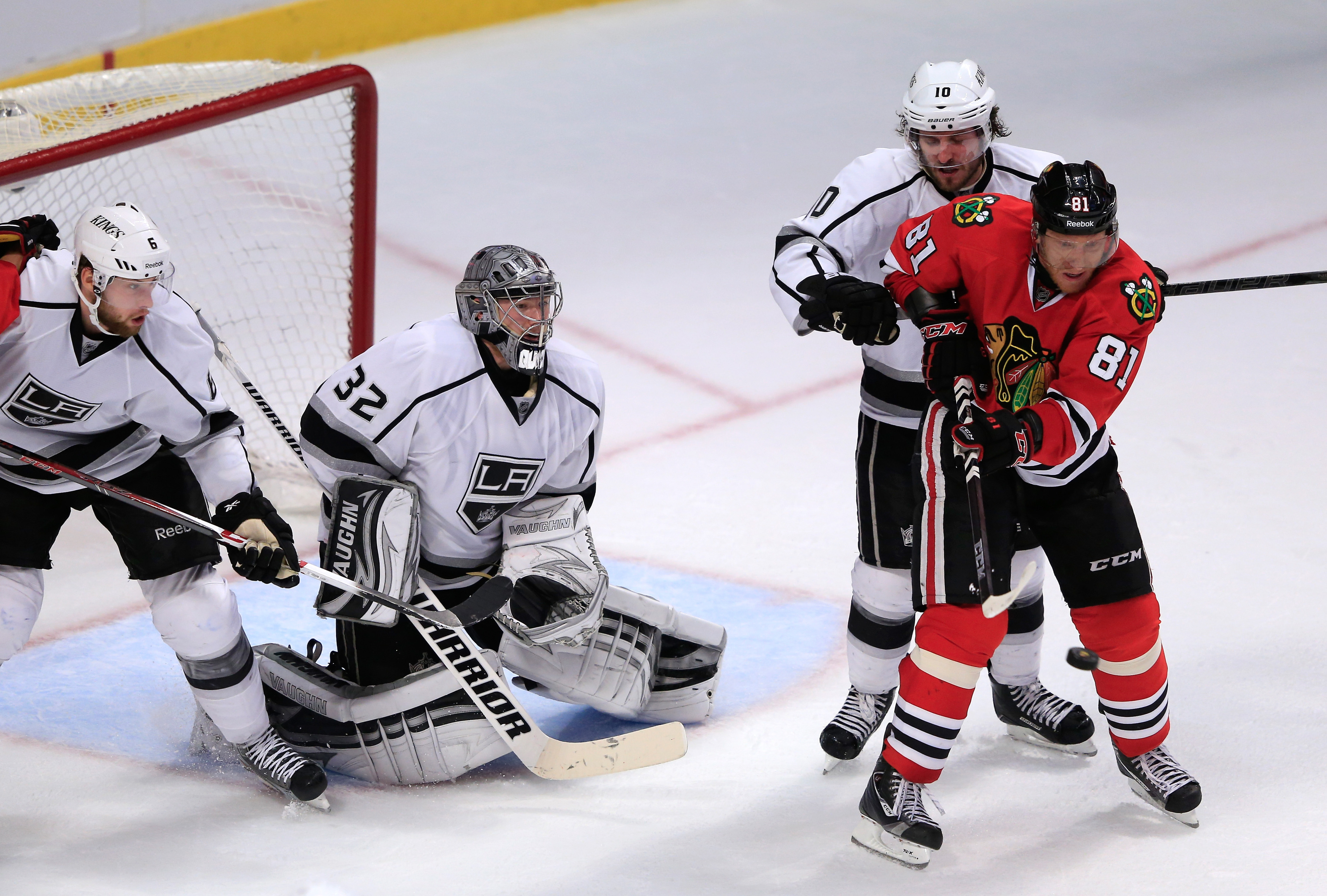 Hossa's deflection would be the game-winner.