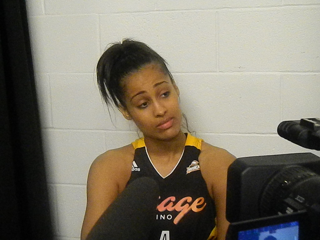 Skylar Diggins was not please after the Tulsa Shock's loss on Friday.
