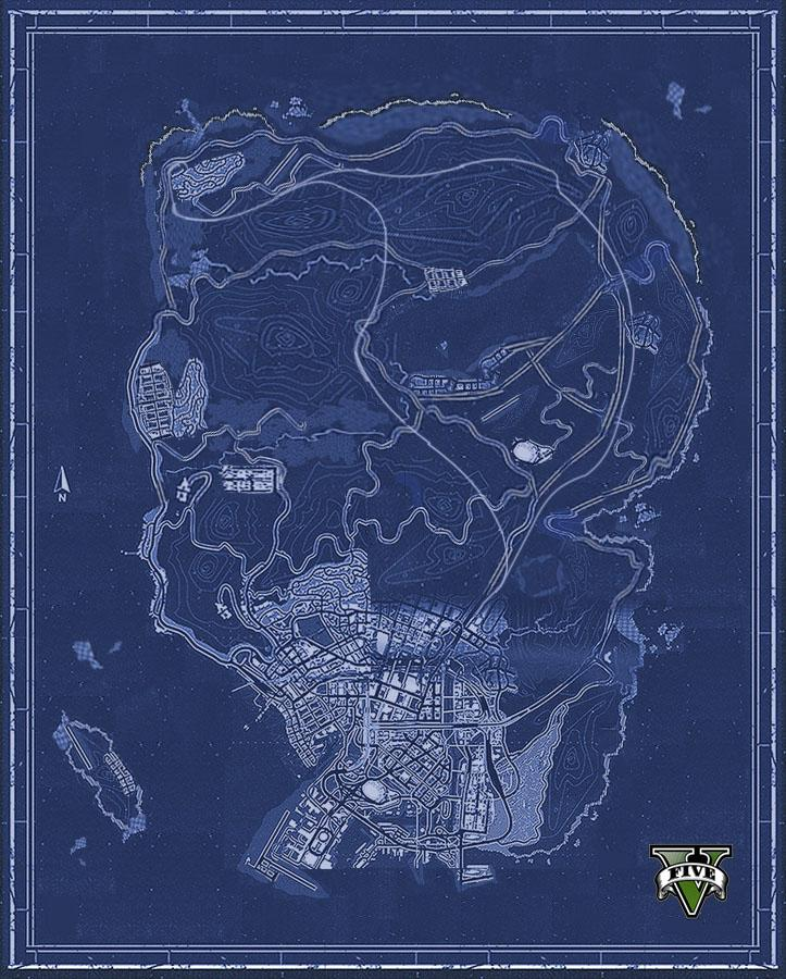 GTA 5 map pieced together by fans
