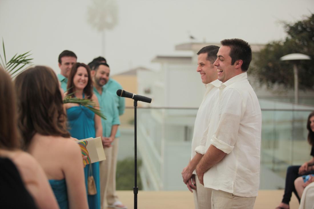 Scott Norton (right) and his husband, Craig Woodward, at their wedding