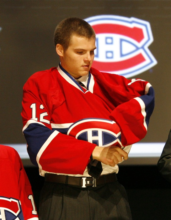 Alex Galchenyuk officially puts on the Canadiens sweater for the first time. Who will do so in 2013?