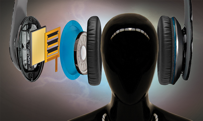 Vivitouch headphones vibrate around your ear to simulate a theatrical experience