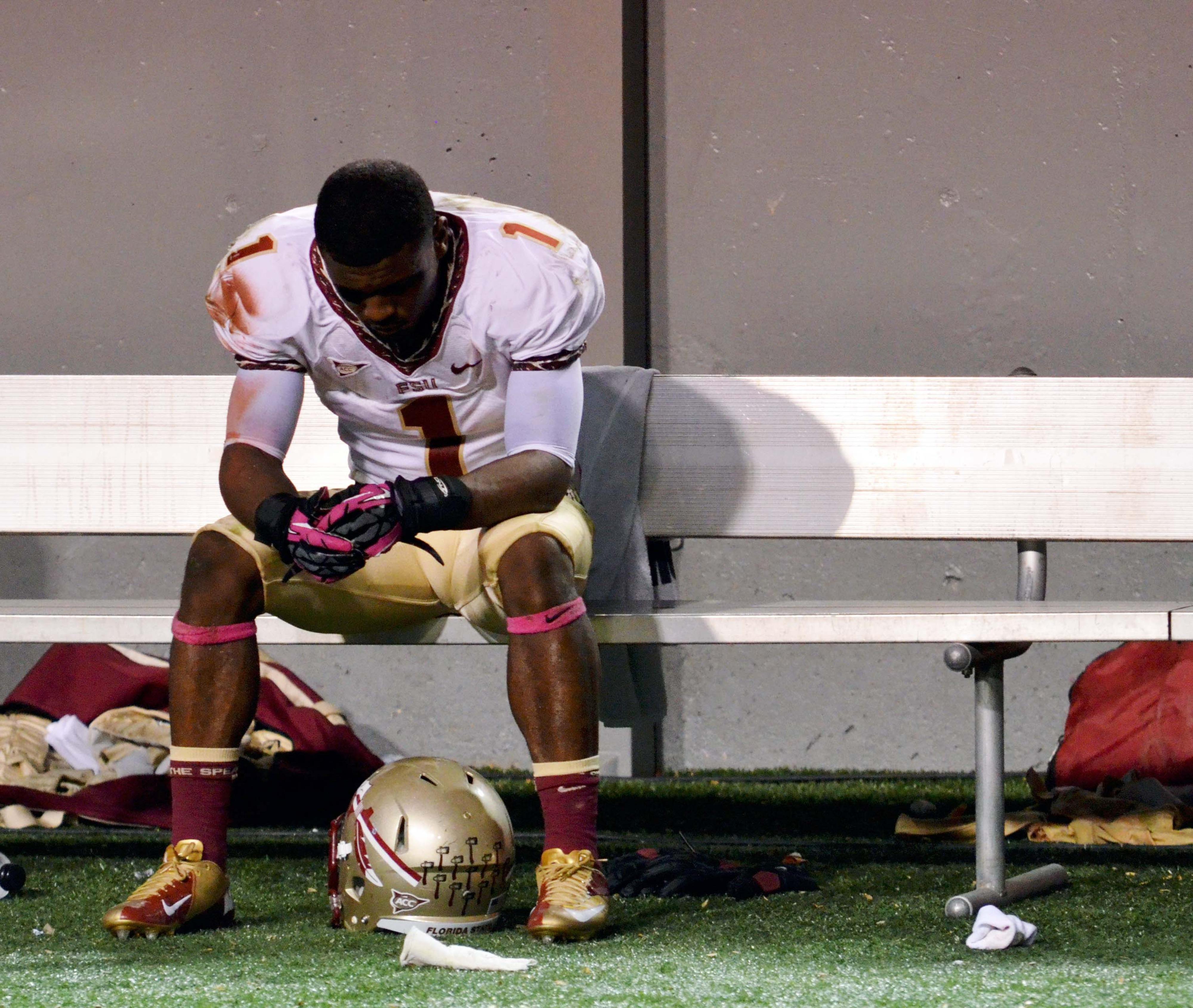 Sad FSU Seminole is sad.