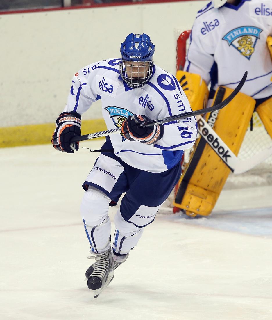 Aleksander Barkov was the youngest player on Finland's World Junior Championship team.