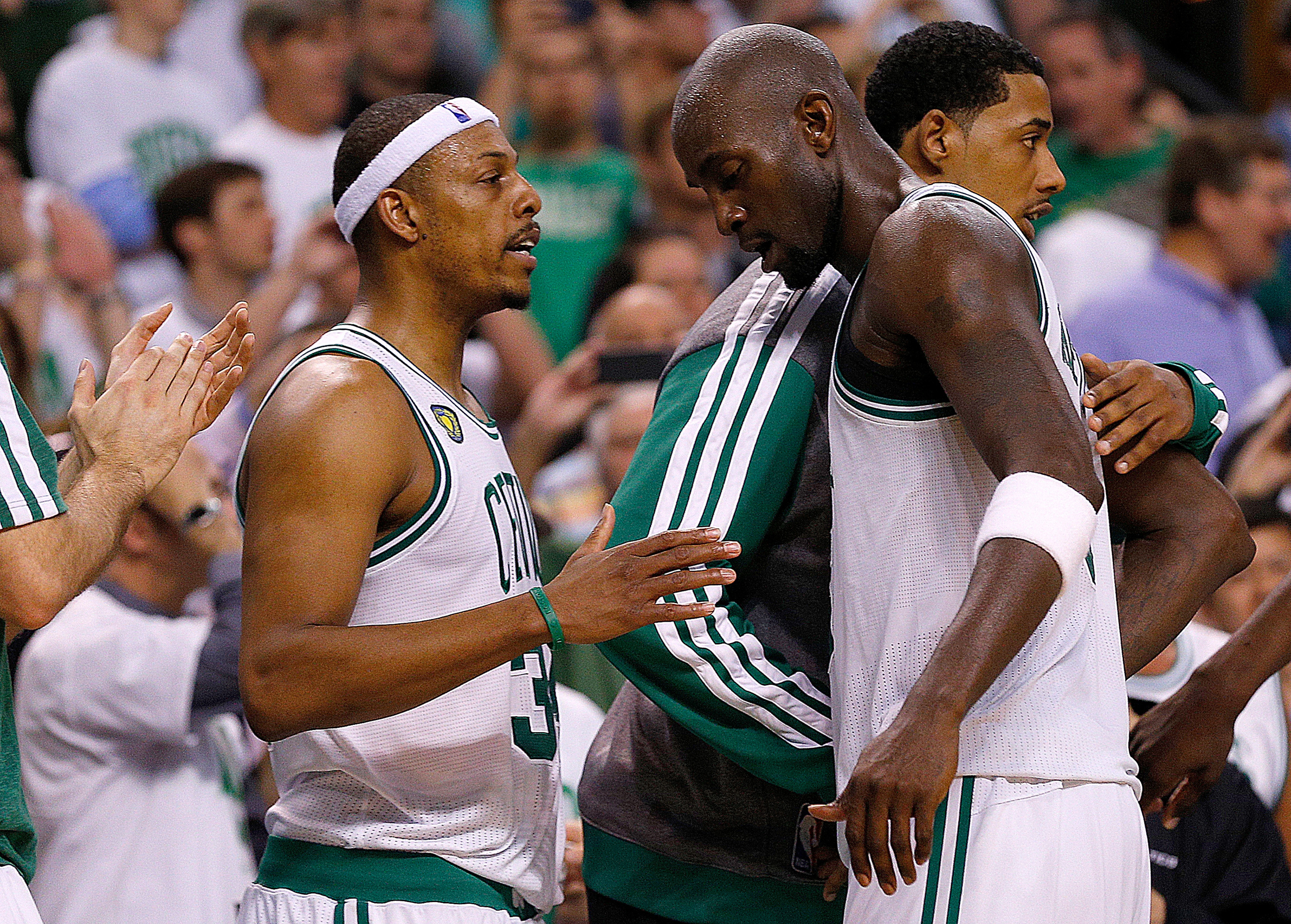 Paul Pierce and Kevin Garnett get traded as the Celtics finally blow it up