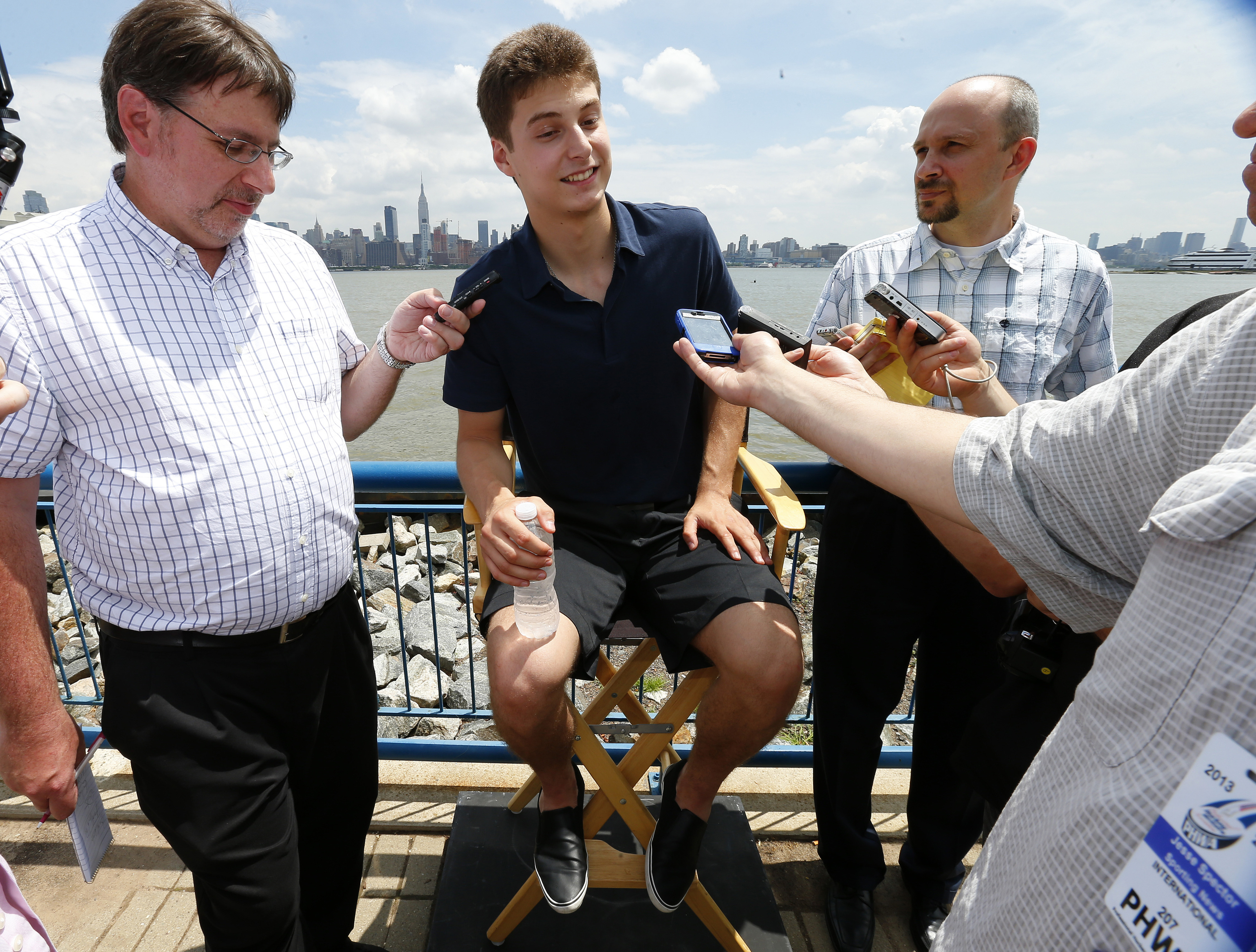 Projected early pick Zach Fucale answers questions prior to the NHL Draft in New Jersey