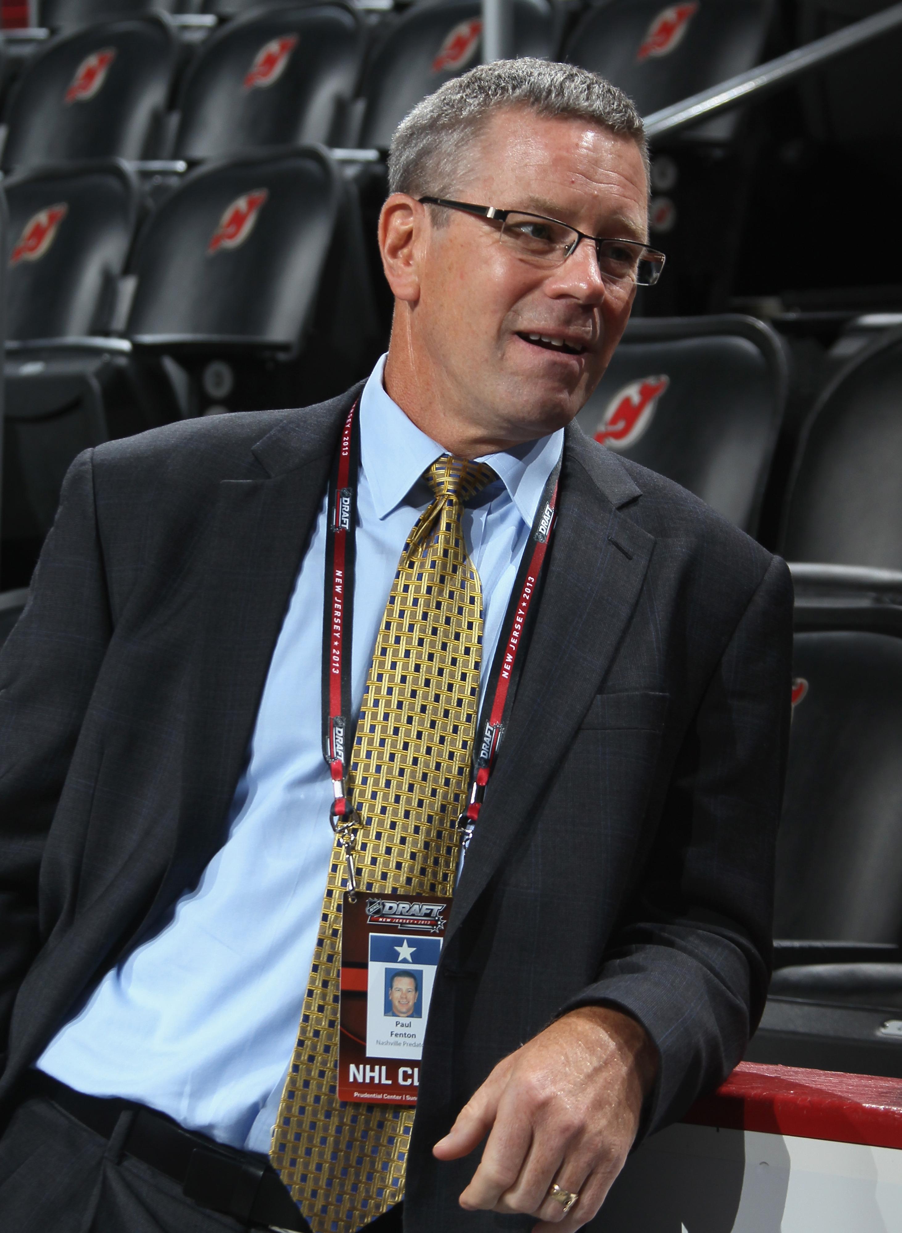 Nashville Predators assistant GM Paul Fenton.