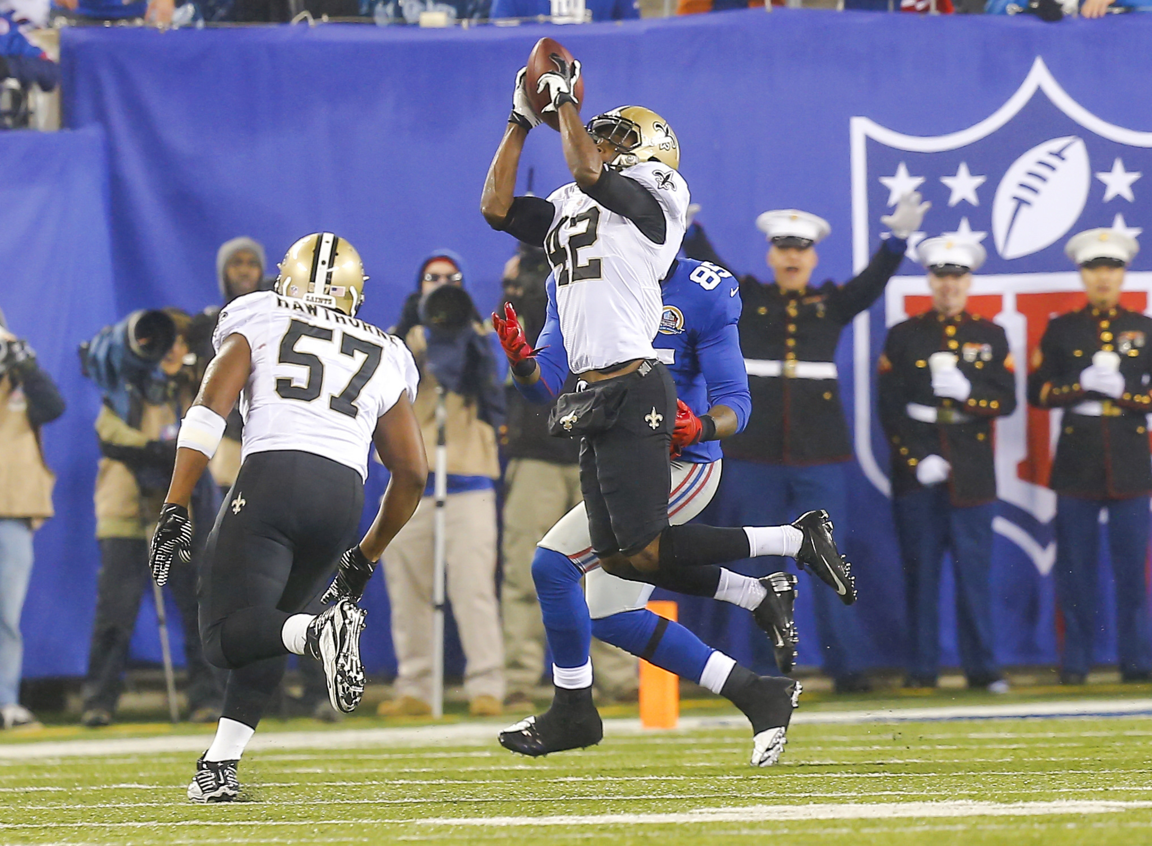 Isa Abdul-Quddus does something that other Saints' safeties struggle to do - hold up in coverage