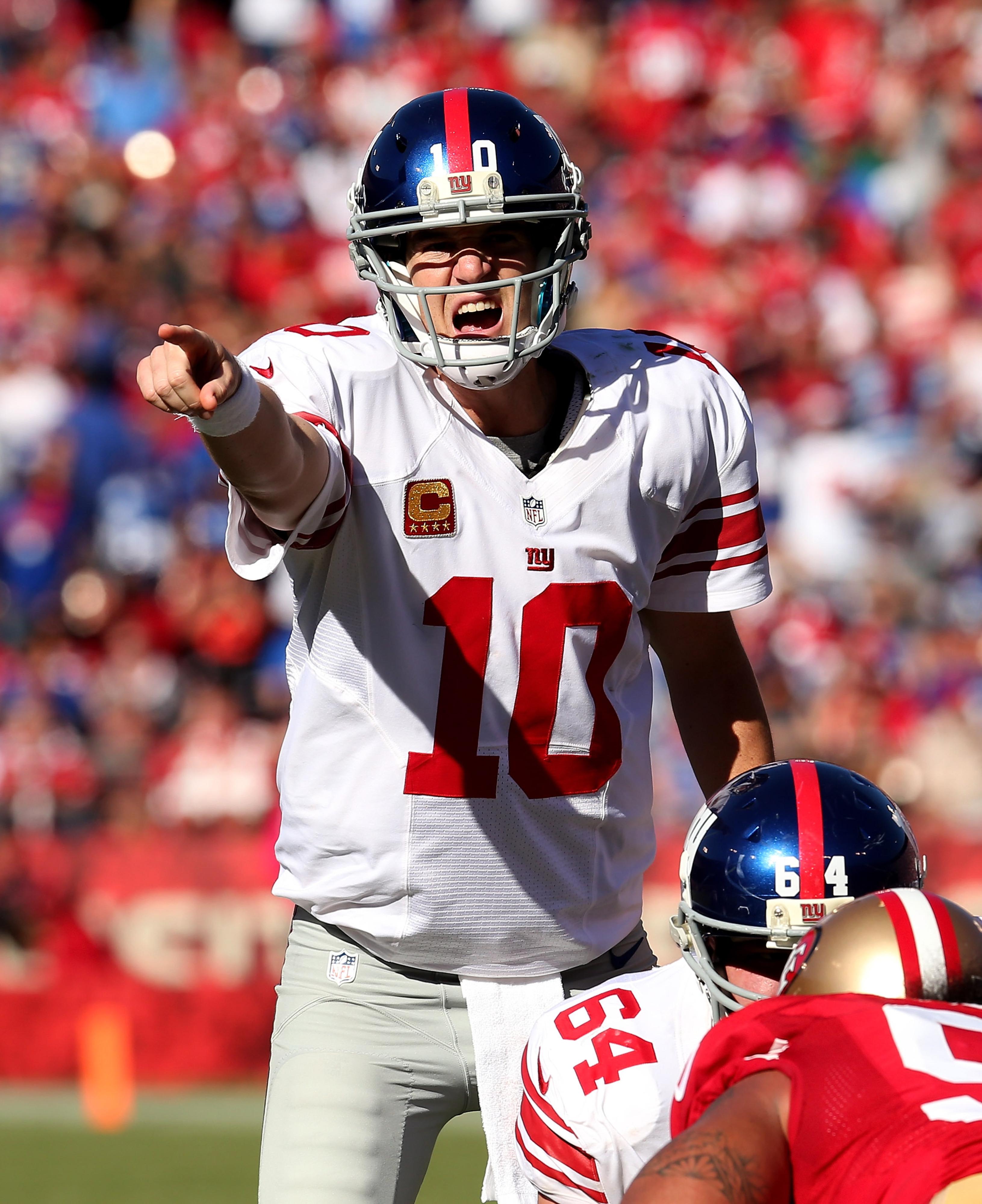 New York Giants' quarterback Eli Manning.