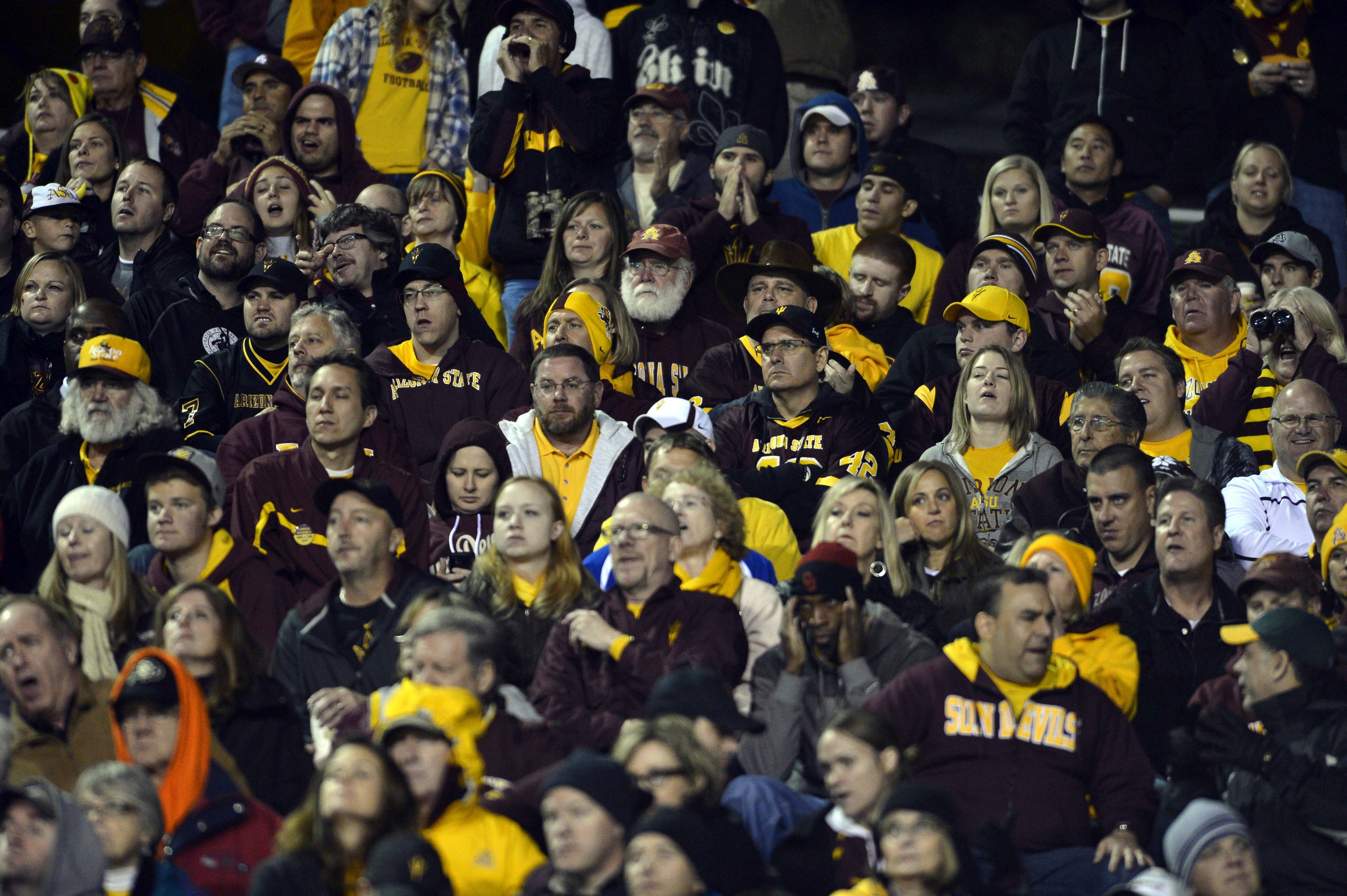 These ASU fans are ready for the blackout.