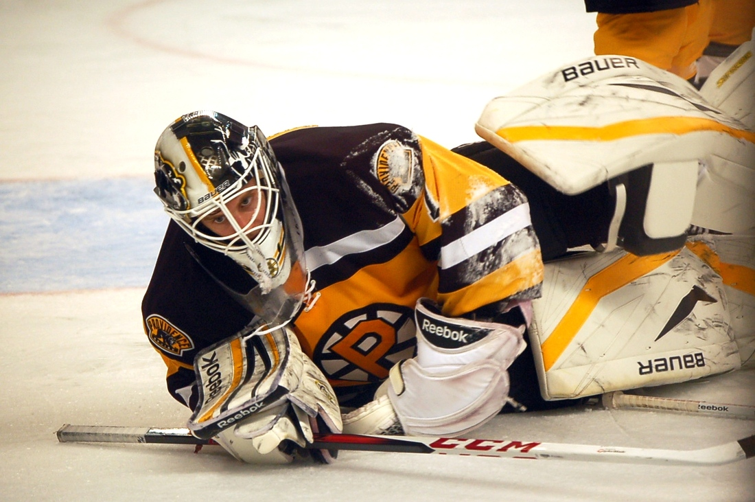 Svedberg gets an A+ in goalie masks for always having The Godfather theme