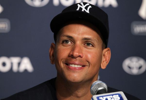 Alex Rodriguez in happier times.