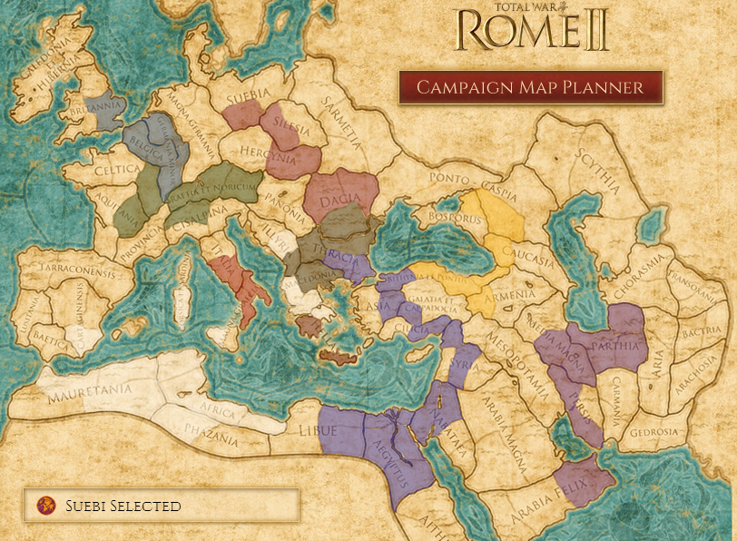 Plan your conquest with Total War: Rome 2 interactive map