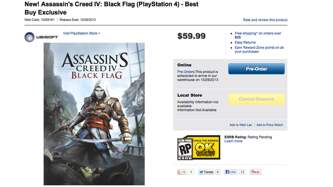 Best Buy takes Assassin's Creed 4: Black Flag's most obvious joke to heart