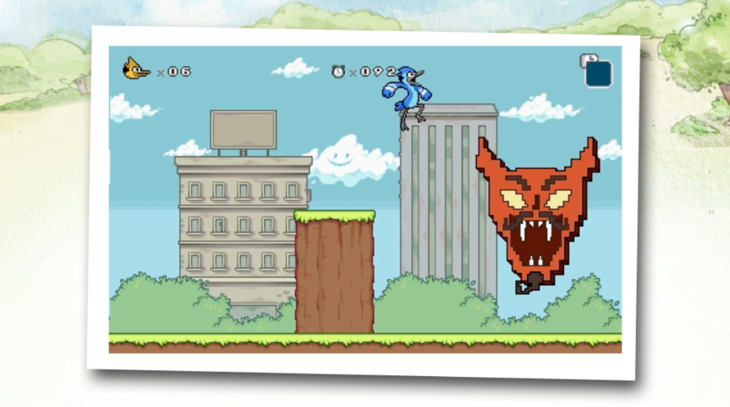 Regular Show 3DS game takes Mordecai and Rigby to 8-Bit Land