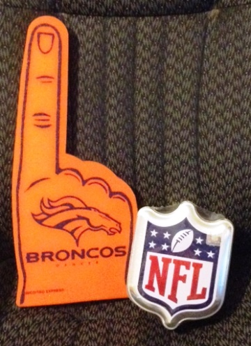Win a Broncos Foam finger, T-shirt and an NFL Commemorative tin in this week's MHR Prediction contest.