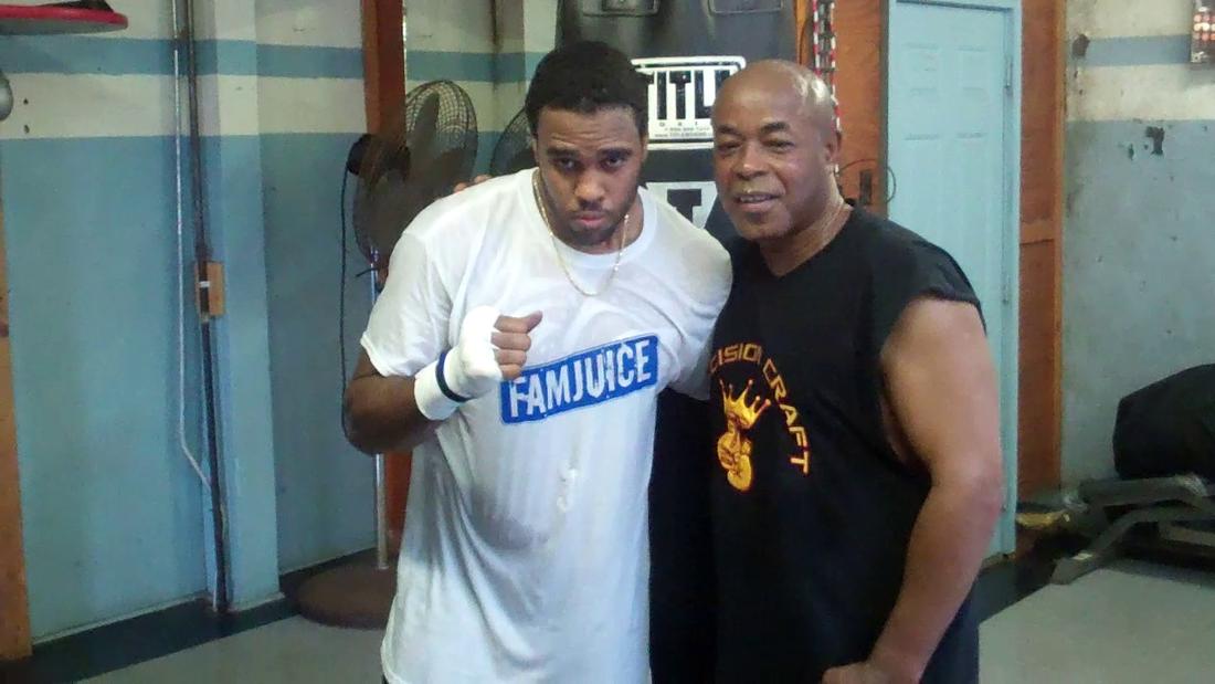 Eddie Chambers & trainer James Ali Bashir