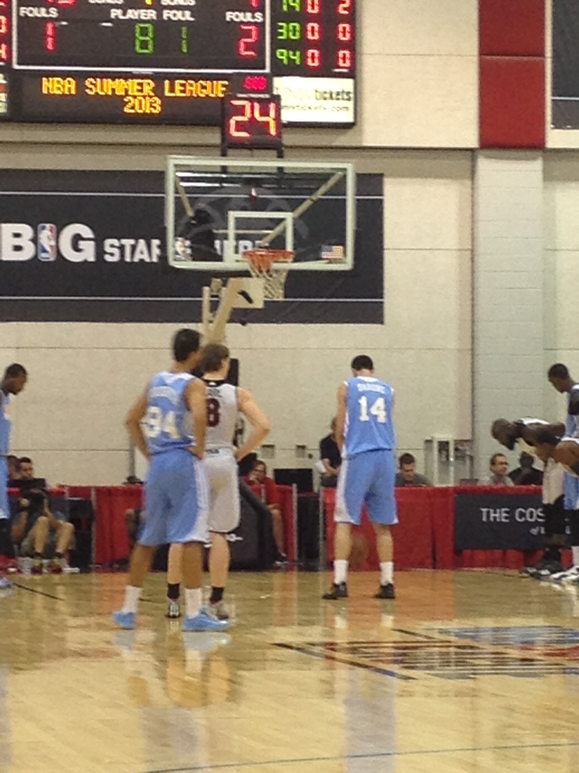 Kyle Barone taking a couple free throws against the Raptors.
