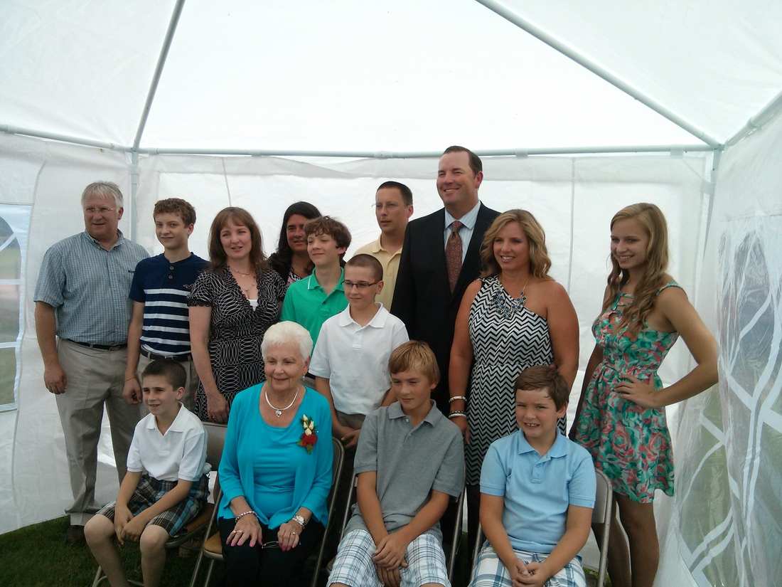 The Cheek Family at the Canadian Baseball Hall of Fame Induction Ceremony