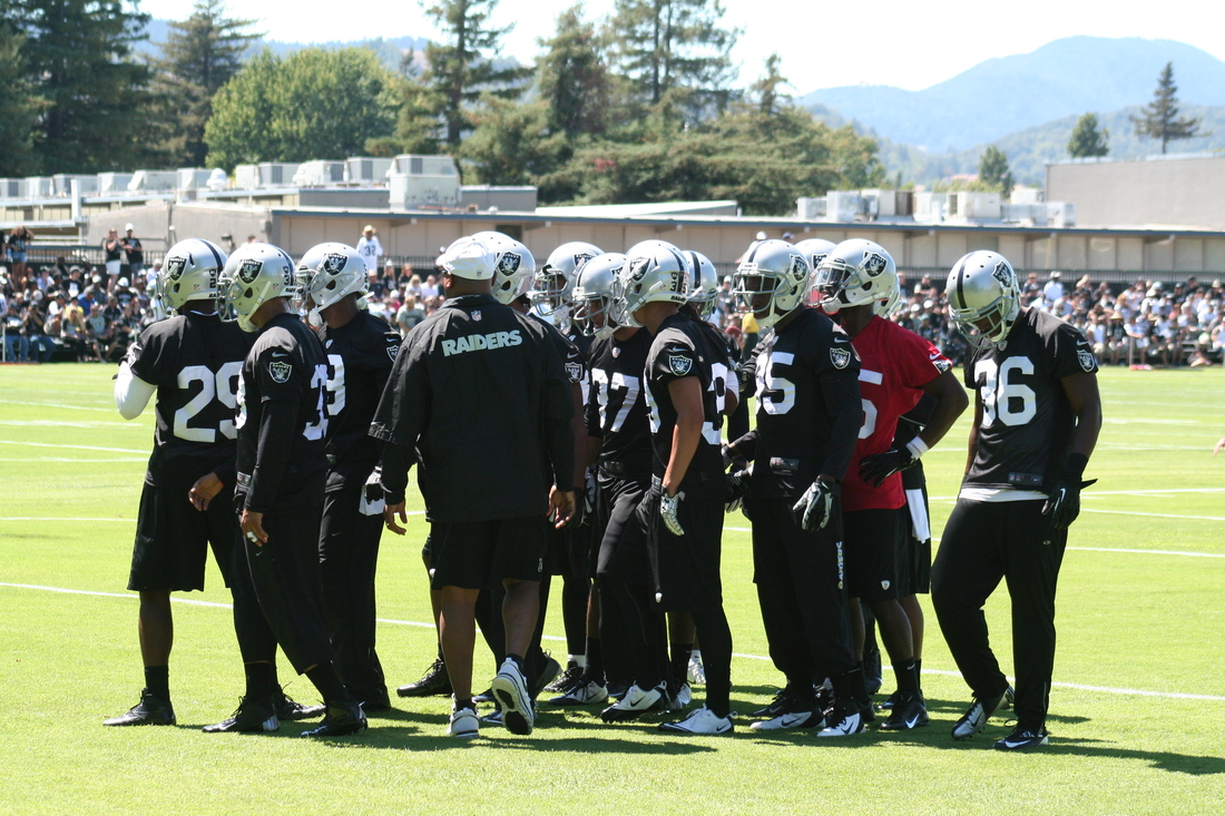 Oakland Raiders defensive backs at 2013 training camp
