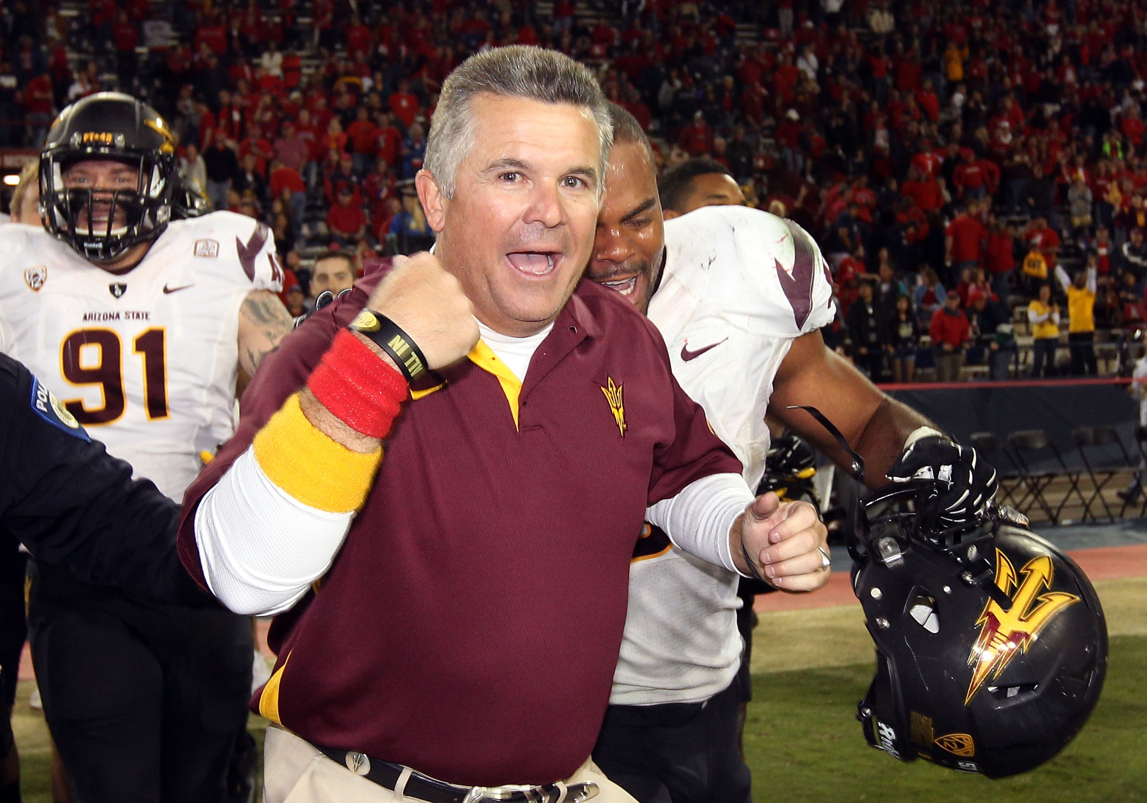 Todd Graham is a happy man today.