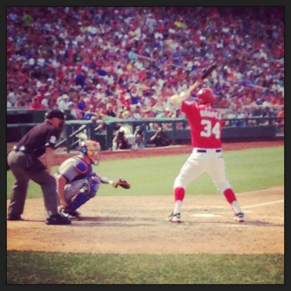 Washington Nationals' slugger Bryce Harper during Saturday's game with the New York Mets.