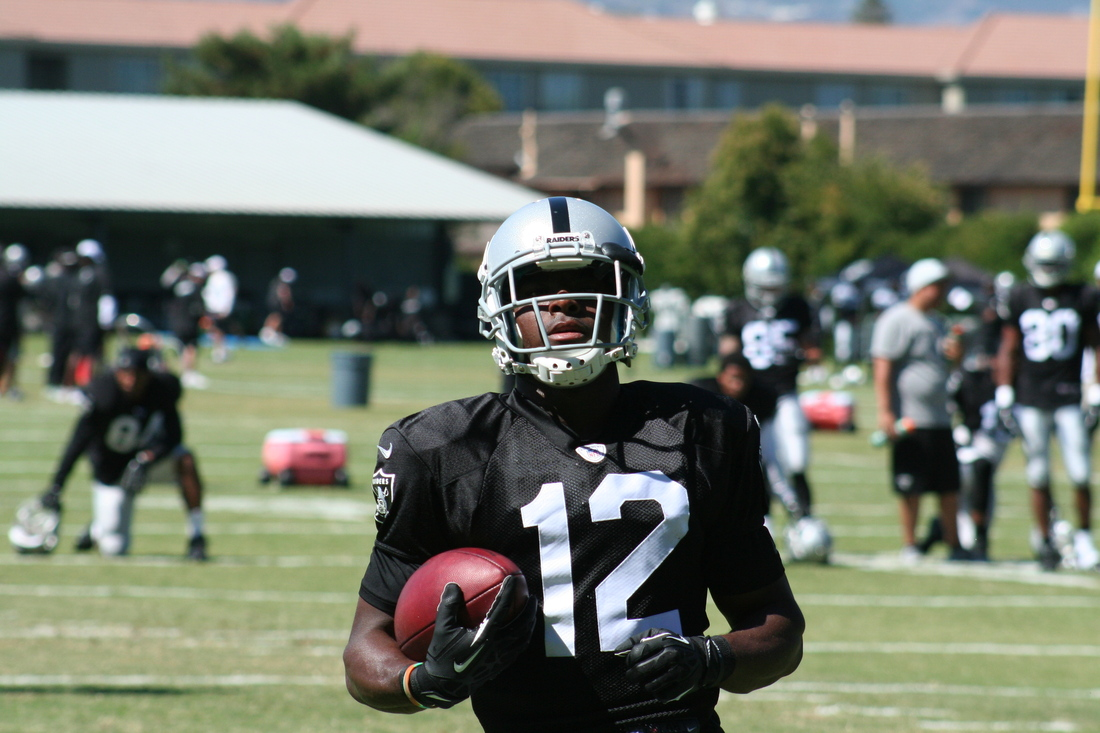 Jacoby Ford at Oakland Raiders training camp 2013