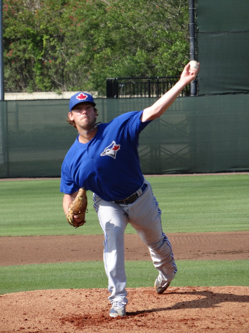 Johnny Anderson delivers a pitch.