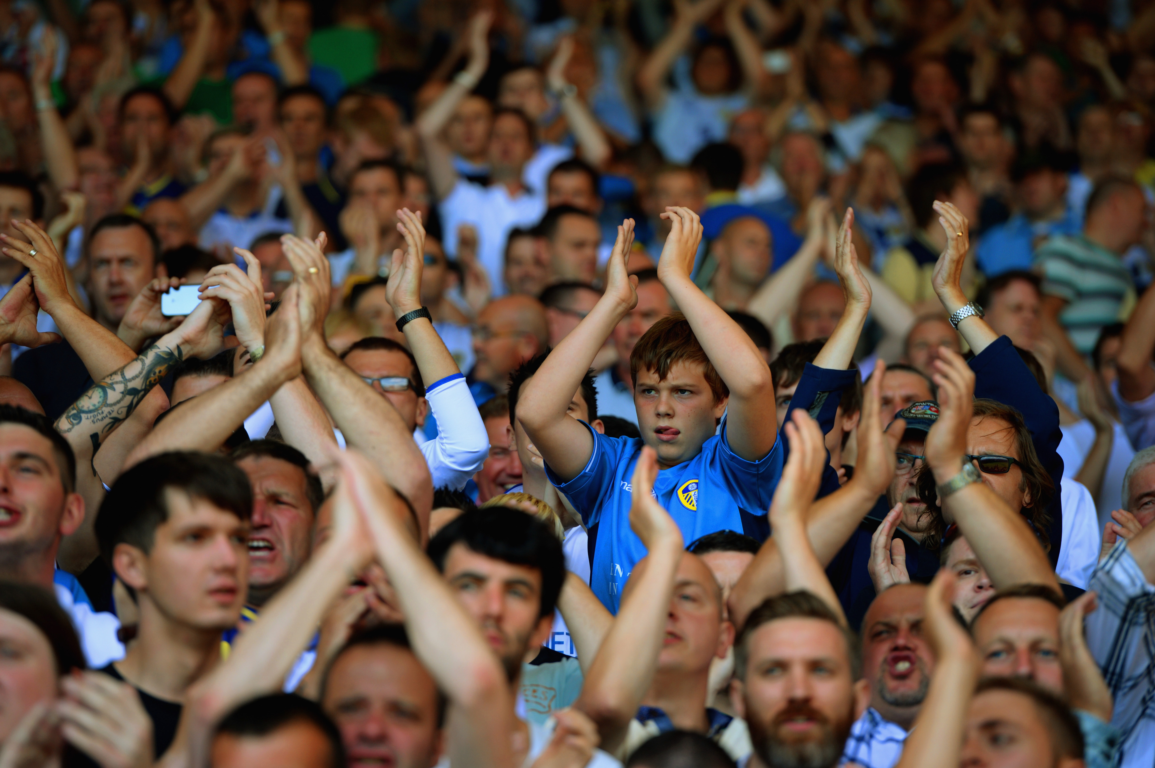 Applause at Elland Road - An all to rare thing in recent times.