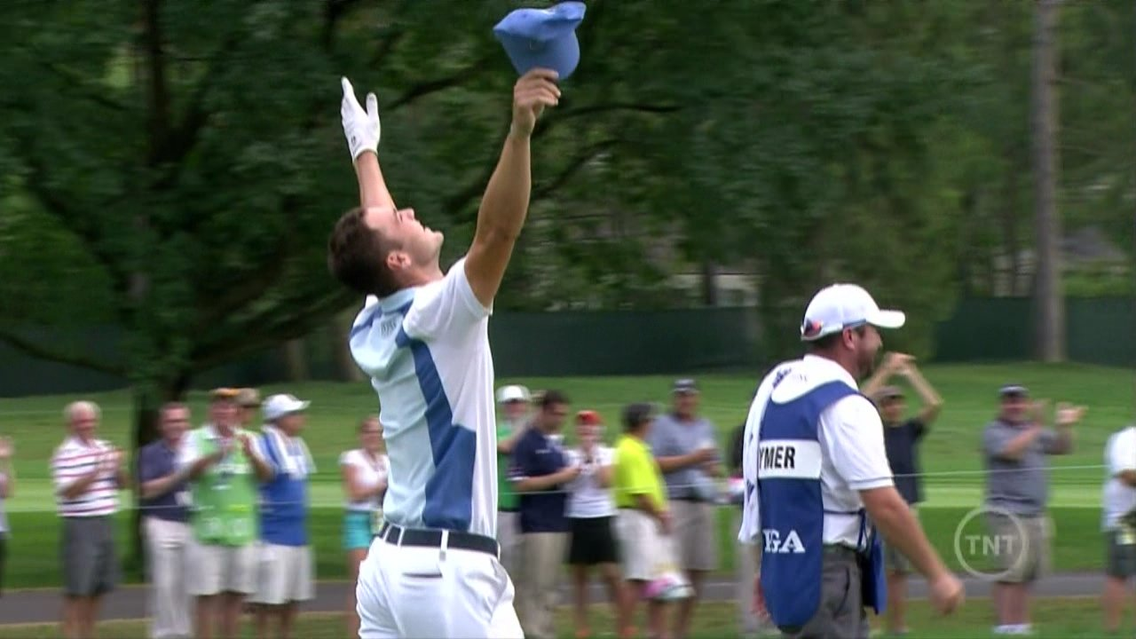 Martin Kaymer sinks eagle from 150 yards out at Oak Hill