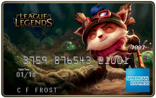 American Express launching line of League of Legends cards