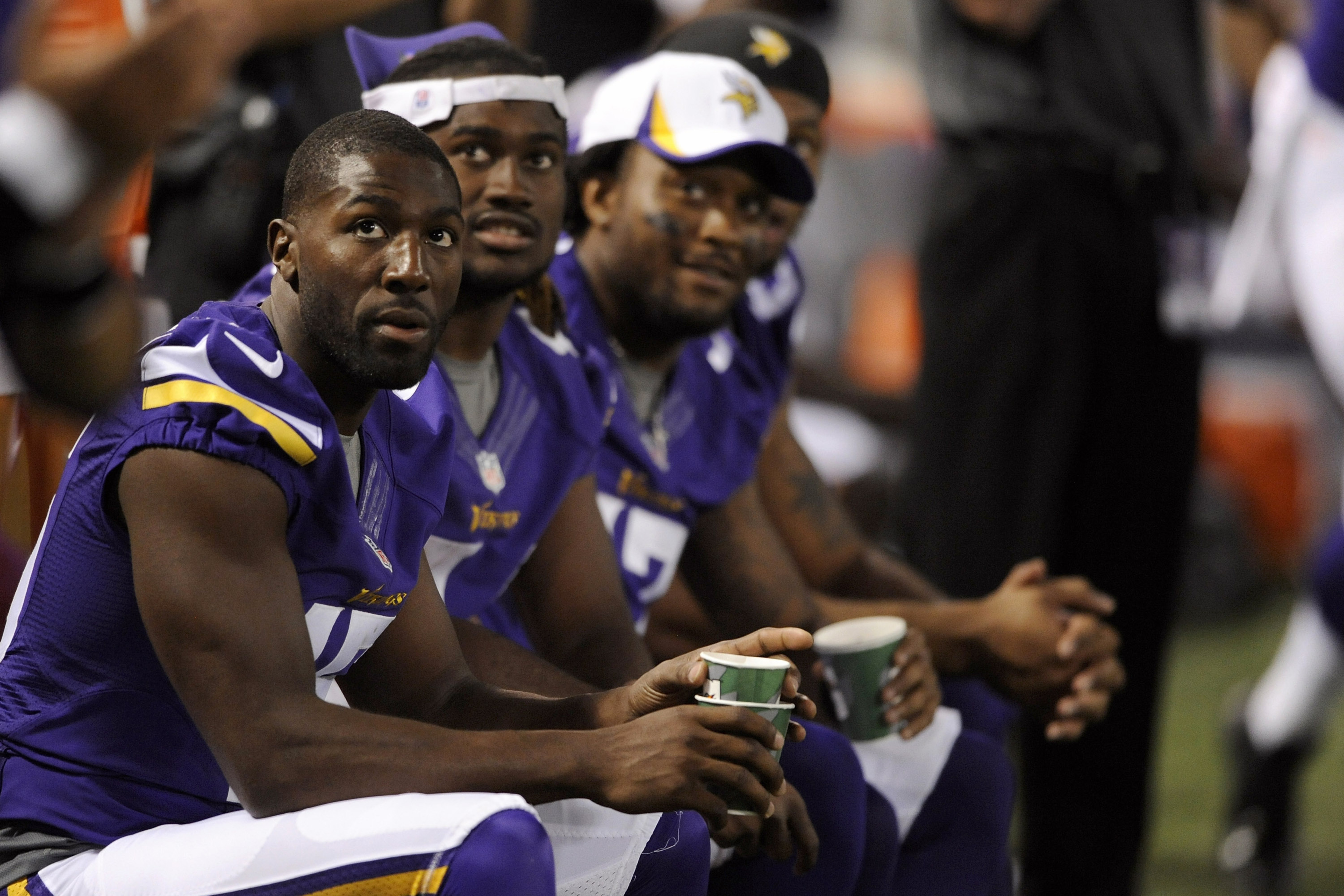 Greg Jennings, Cordarrelle Patterson, and LaMark Brown. One of these three won't be around in a couple weeks. Guess who?