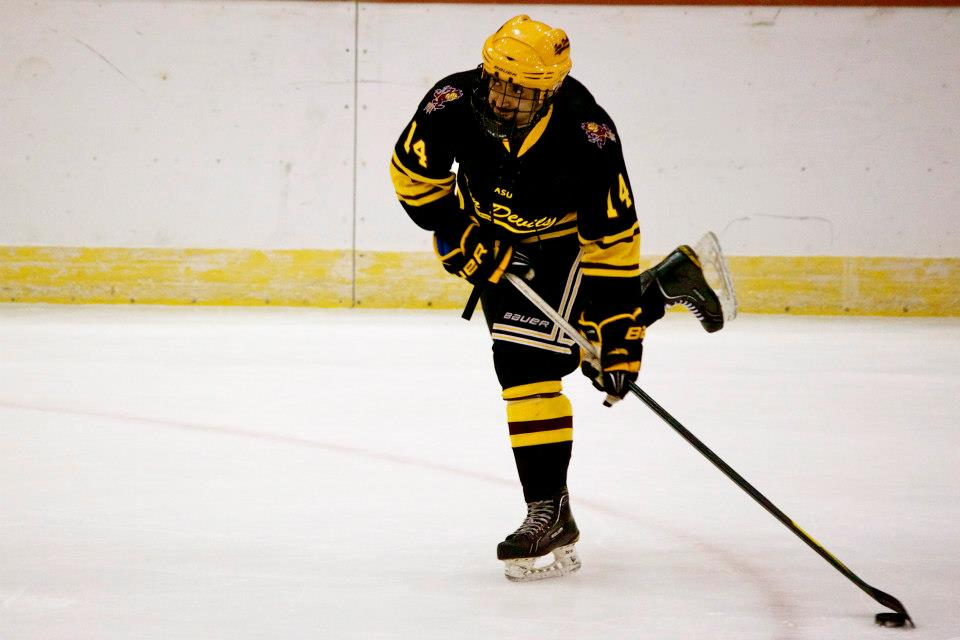Faiz Khan was one of the heroes for ASU Hockey against Penn State.