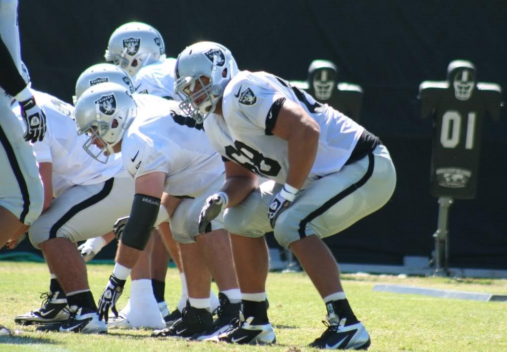 Offensive tackle, Jared Veldheer, at Raiders training camp in Napa