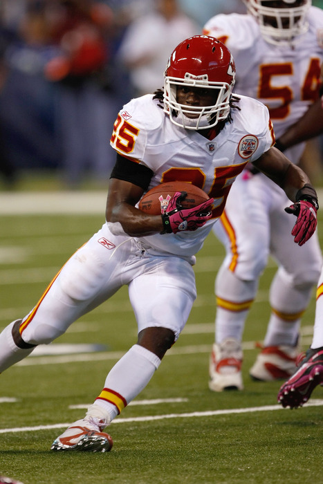 Jamaal Charles injury: Chiefs RB rehabs foot strain
