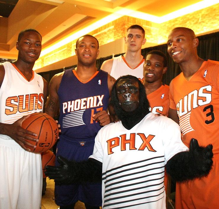 Suns unveil new uniforms