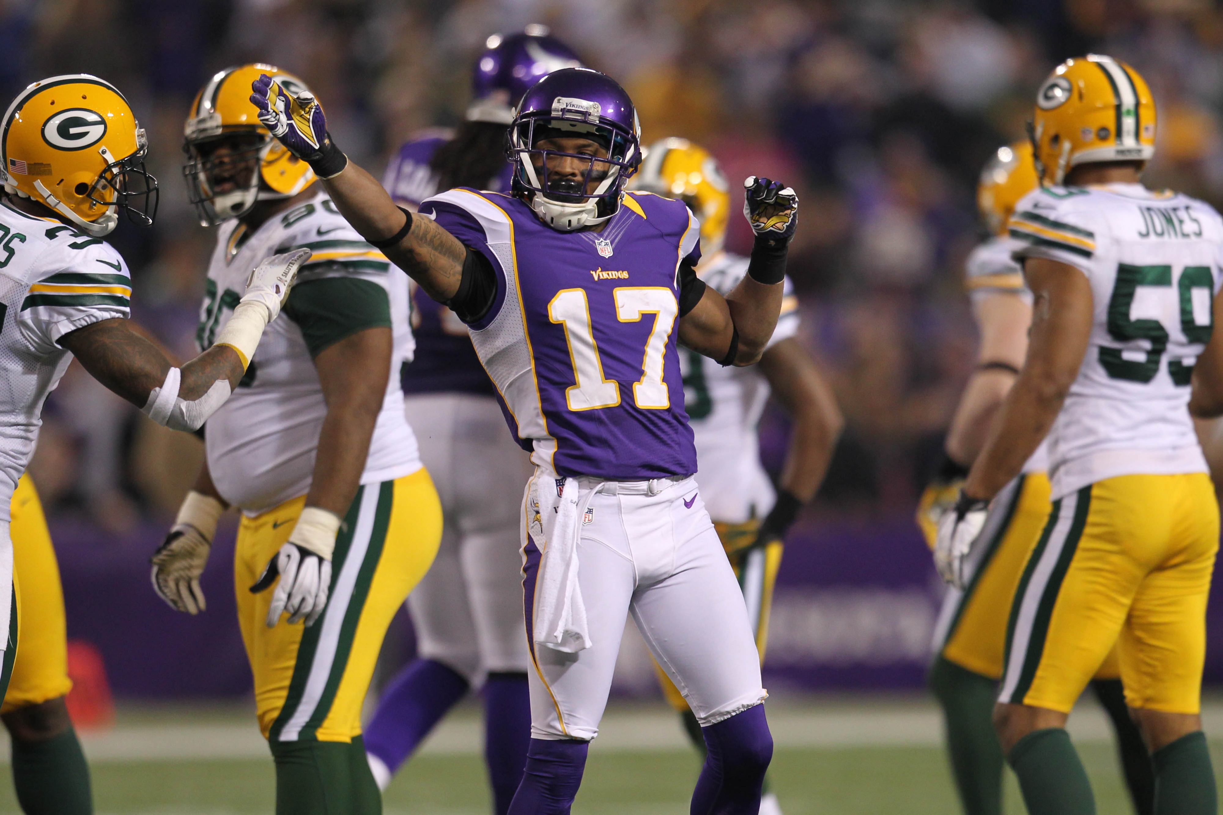 Jarius Wright is out with a concussion, suffered Friday night in Buffalo.